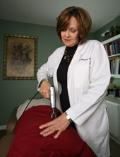 Chiropractor Panama City FL Doctor Marianne Taylor Bauman Adjusting pateitn